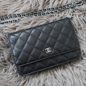 Chanel Waller on Chain WOC - Black caviar w/ SHW